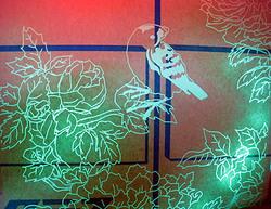 【レーザー加工のベルテックレーザ株式会社】「レザー彫刻」小鳥_右向きです。