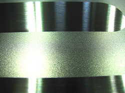 【レーザー加工のベルテックレーザ株式会社】「サンドブラスト加工」拡大図です。